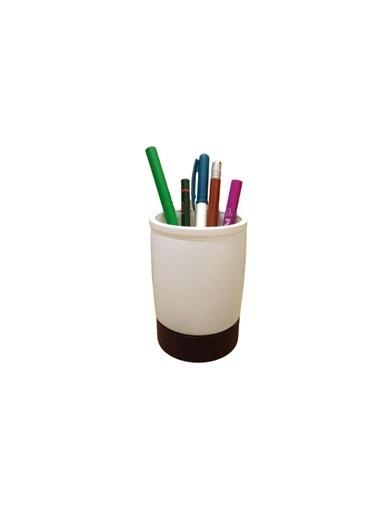 Bosphorus 8 X 8 X 10 Cm N Üstü Bardak Şekilli Kalemlik Beyaz